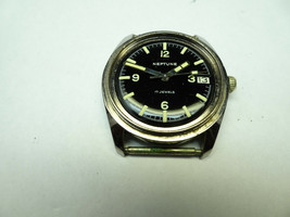 VINTAGE NEPTUNE BAYLOR 17 JEWEL DIVER WATCH FOR RESTORATION OVER BANKED ... - $266.07