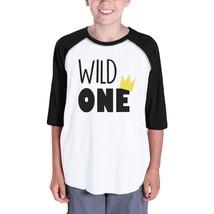 Wild One Crown Kids Black And White BaseBall Shirt - $15.99