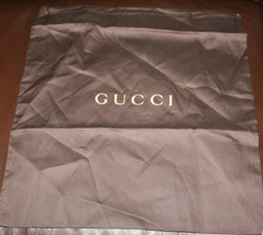 "Gucci Dust Bag Brown 17"" x 11.75"" Authentic - $23.51"