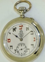 Antique Longines pocket watch c1900's.Fancy Jewish Kabbalah Hamsa enamel... - €1.089,58 EUR