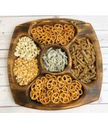 Natural Wood Serving Plate Eco Handcrafted Food Dessert Dinner Tableware Kitchen - $29.99