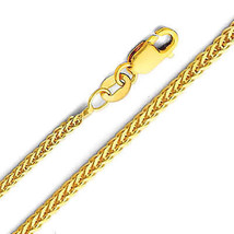 14k Yellow Gold 1-mm Thin and Dainty Square Wheat Chain Necklace - $121.55