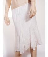 Ralph Lauren Women White Black Floral Lace Lined ALine Ruffled Knee Leng... - $34.39