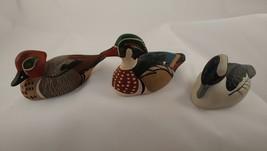 Avon Collector Duck Series 1984 Buffle Head Wood Duck Green Winged Teal ... - $28.04