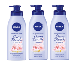 Nivea Oil Infused Body Lotion Cherry Blossom and Jojoba Oil 3 Pack - $39.55