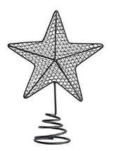 Creative Co-op Farmhouse Star Metal Wire Holiday Tree Topper