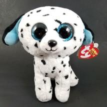124e3e1a3b9 Ty Beanie Boos FETCH the Dalmatian Dog Plush Glitter Sparkle Eyes 6 quot   Tag.