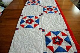 Cutter Quilt Piece Vintage Patriotic Patchwork Pillow or Craft Project P... - $12.95