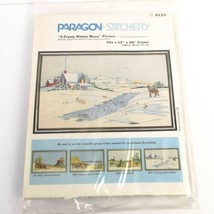 Paragon Stitchery A Frosty Winter Morn Creative Crewel Victorian Brick X... - $24.97