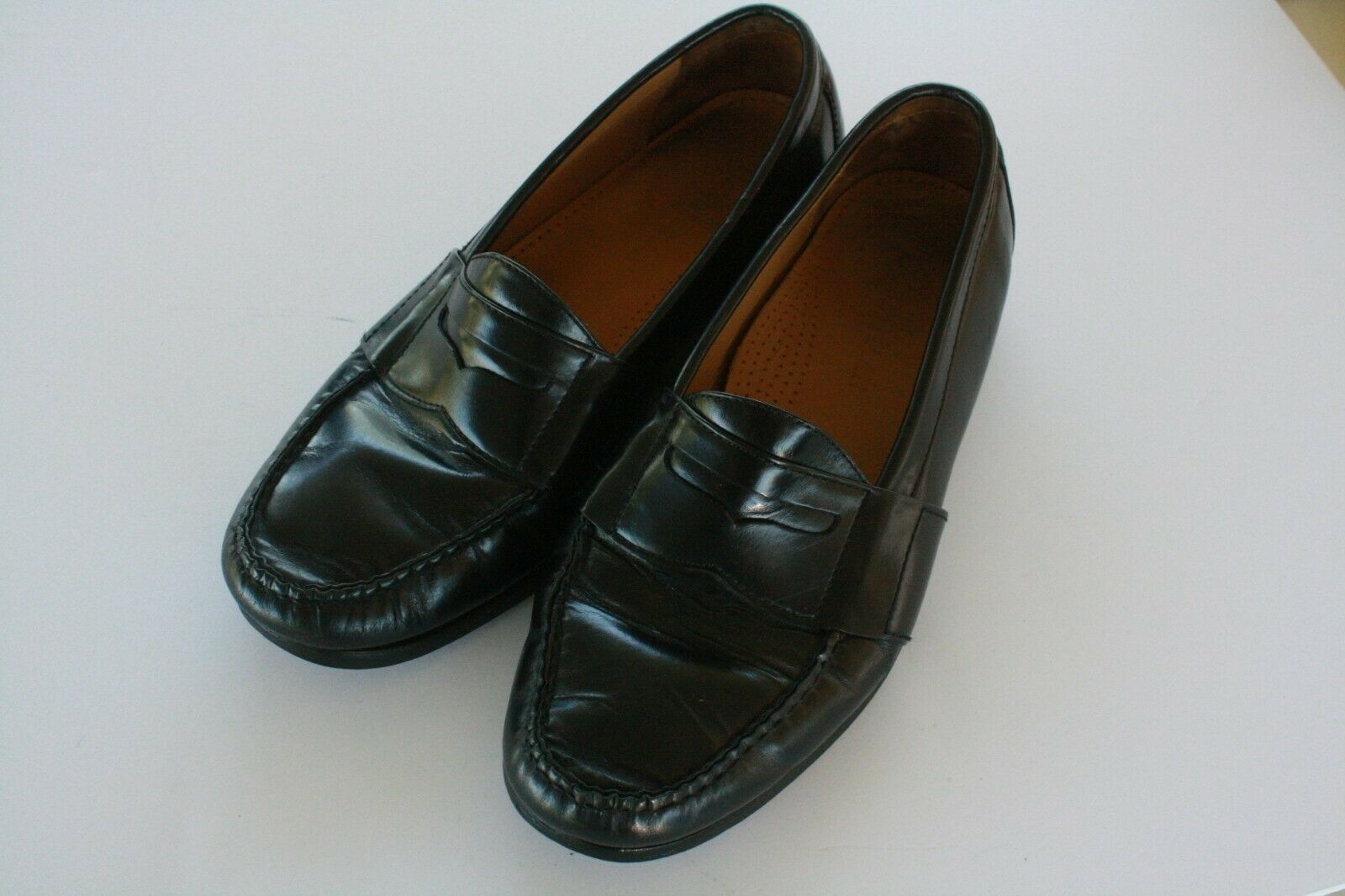 Cole Haan Men's Black Leather Slip On Casual Penny Loafers Size 8.5 M EUC