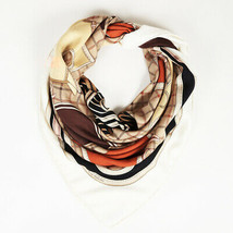 "Hermes Cashmere Silk ""Camails""  Scarf - $960.00"
