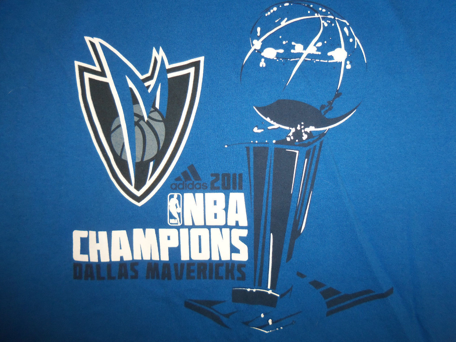 091a479253f S l1600. S l1600. Previous. Adidas NBA Dallas Mavericks Basketball 2011  Finals Champs Blue T Shirt ...