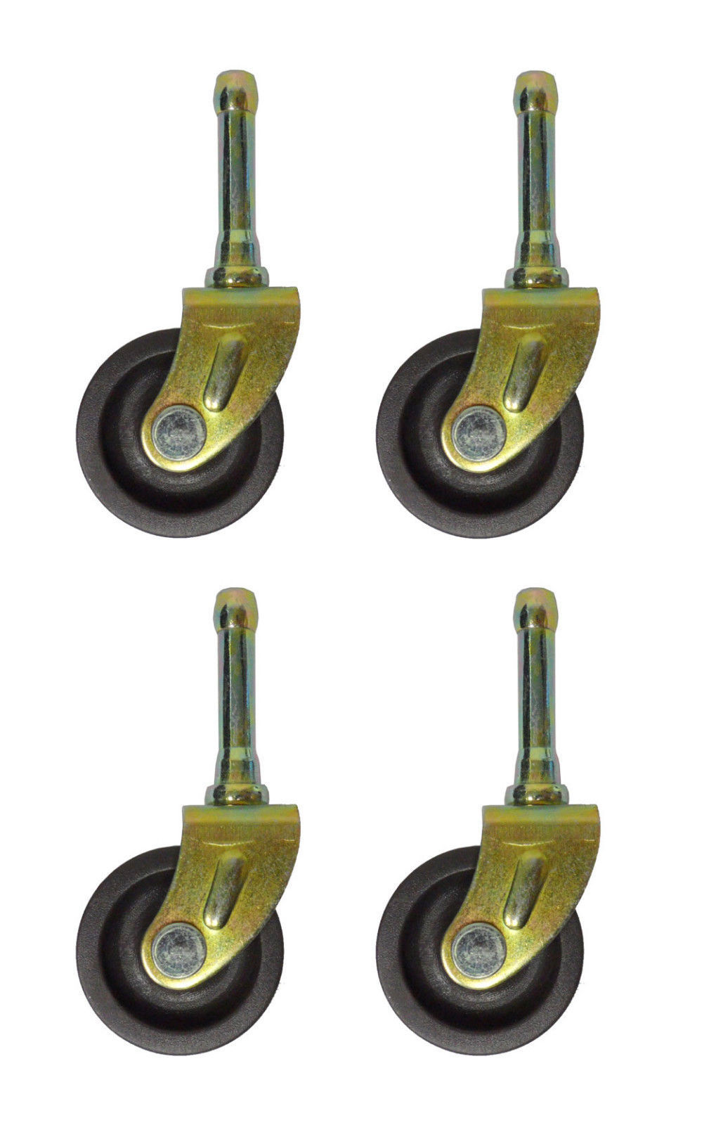 SET OF (4) BED  FRAME CASTER WHEELS WITH SOCKET INSERTS - $9.85