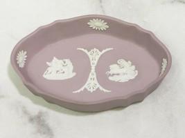 Wedgwood Lilac Purple Lavender Jasperware Trinket Dish Pin Tray Pegasus ... - $24.35