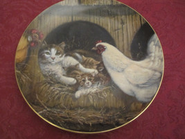 Right Church Wrong Pew Collector Plate Lowell Davis Schmid Rare Cat Tales Chicke - $39.20