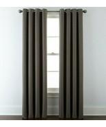 (1) JCPenney JCP Liz Claiborne Quinn Basketweave TAUPE Grommet Curtain 5... - $51.44