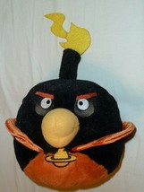 "Commonwealth Angry Birds Black Space Bomb NO SOUND 7"" 14"" Plush 2012 EUC* - $18.80"