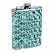 Popular Retro Patterns D3 Flask 8oz Stainless Steel Hip Drinking Whiskey - $12.82
