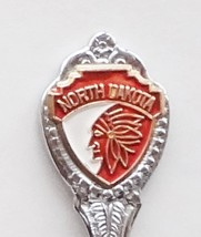 Collector Souvenir Spoon USA North Dakota Feathered Headdress Emblem - $2.99