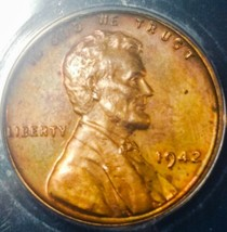 1942 PF63  RB LINCOLN WHEAT CENT/PROOF  * SOME TONING *   . - $83.30