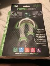 New 4id Power Spurz Shoe Safety Light Running Safety Walking Flash Green - $4.95