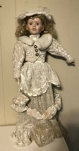 "VINTAGE ASHLEY BELLE VICTORIAN STYLE DOLL LARGE 30"" BISQUE PORCELAIN Sof... - $296.01"