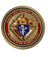 Knights of Columbus Medallion for Box Cremation Urn/Flag Case - 2 Inch D... - $59.99