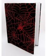 Shiny Red Spiderweb Fabric Hardcover Journal  - $21.00