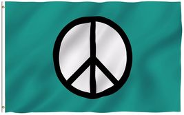 """3x5"""" Peace Symbol Flag World Peace Flags Canvas Header and Double Stitched - $18.00"""