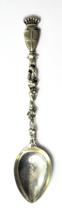 """800 Fine Silver Geneva Switzerland Swiss Souvenir Shield Spoon 4-3/4"""" - $19.79"""