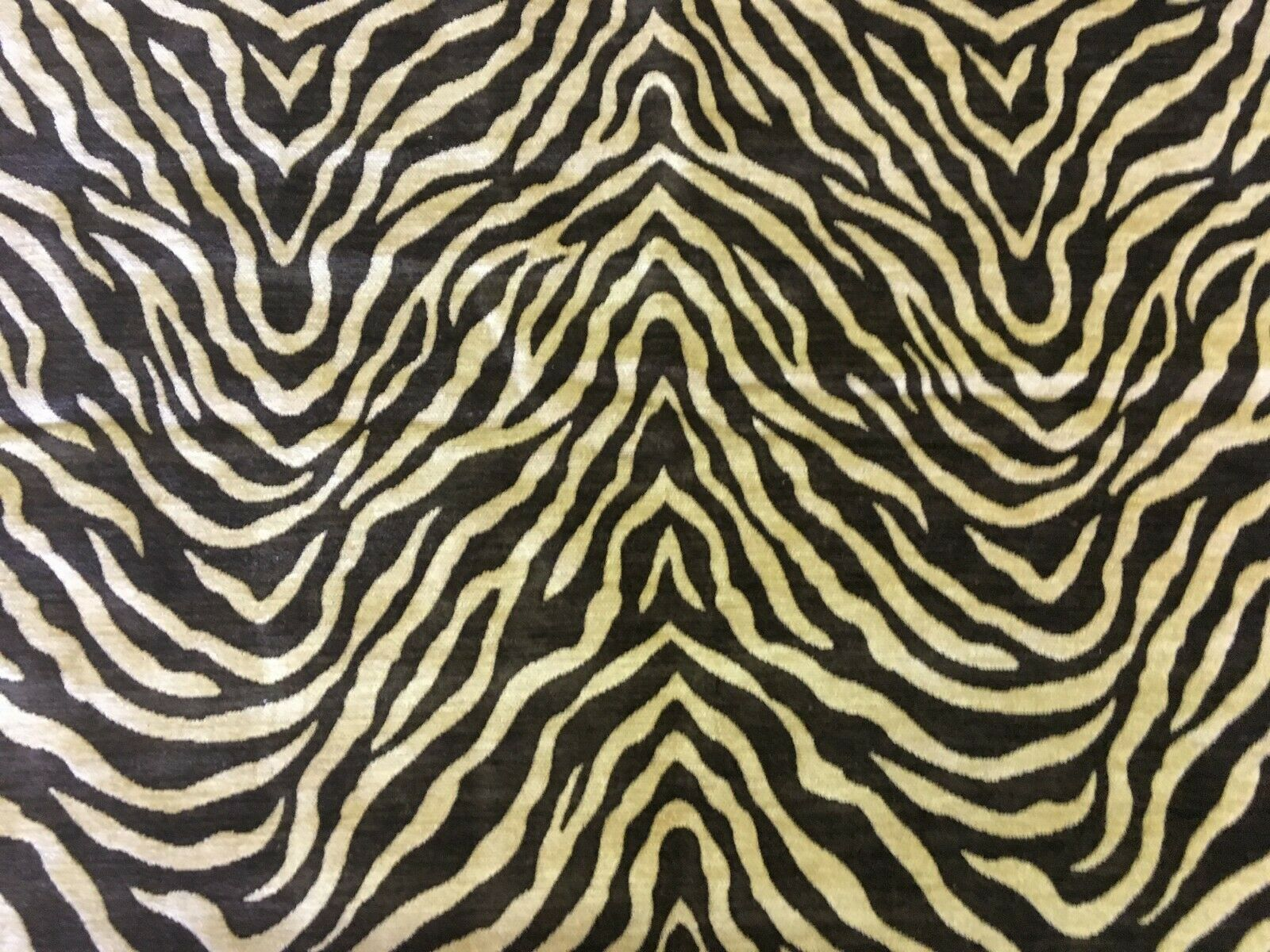 Reversible Tiger Print Chenille Upholstery Fabric 1.5 yards NS