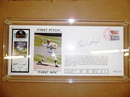 "1993 FL MARLINS OPENING DAY ""FIRST PITCH, FIRST WIN"" CHARLIE HOUGH SIGNE... - $93.11"