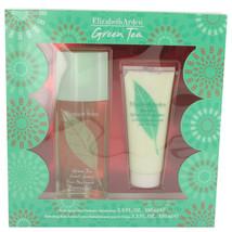 Green Tea By Elizabeth Arden Gift Set -- 3.3 Oz Scent Spray + 3.3 Body Lotion Fo - $29.95