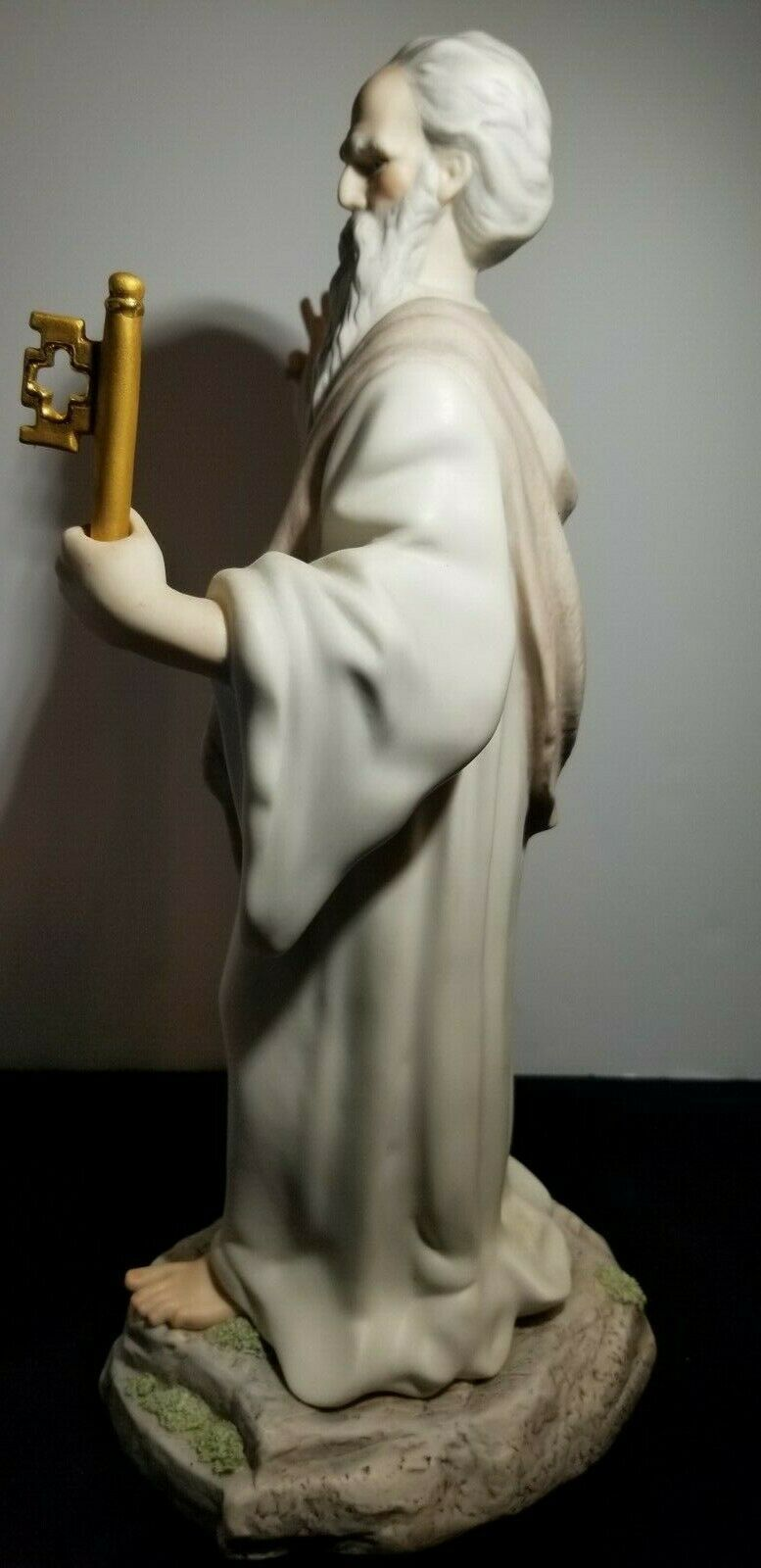 "Lovely RARE Cybis Saint Peter w/ Gold Key to Heaven Golden Gates 15.5"" Figurine"