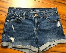 Old Navy Boyfriend Jean Shorts Destroyed Frayed Size 2 Regular Short Blue W30  - $15.99