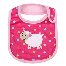 Lovely Sheep Red Cool Cotton/PVC Adjustable Waterproof Baby Bib Pocket Bib 612""