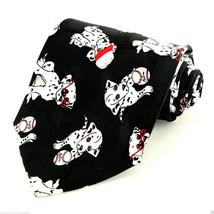 Baseball Puppies Men's Silk Neck Tie Dalmatian Cartoon Sports Puppy Dog ... - $14.85