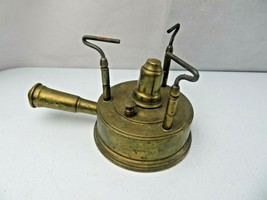 Vintage Rare Camping Stove French Brass Gasoline Burner Mid Century Mode... - $120.00