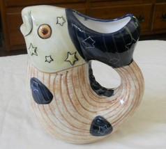 Carol Endres Fish Pitcher Stars & Stripes Pure Art Hand Painted  - $18.79