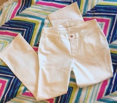 White Jeans Womens Old Navy Size 14 New Micro Flare Mid Rise Denim - $19.99