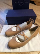Stuart Weitzman Bolshoi Nappa Leather Ballets Flats Slip On Size 8.5 Nude NIB - $177.65