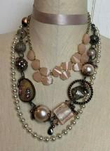 Necklaces LOT Fashion Jewelry Express Choker Fine Pearls Gold Treska Bea... - $24.70
