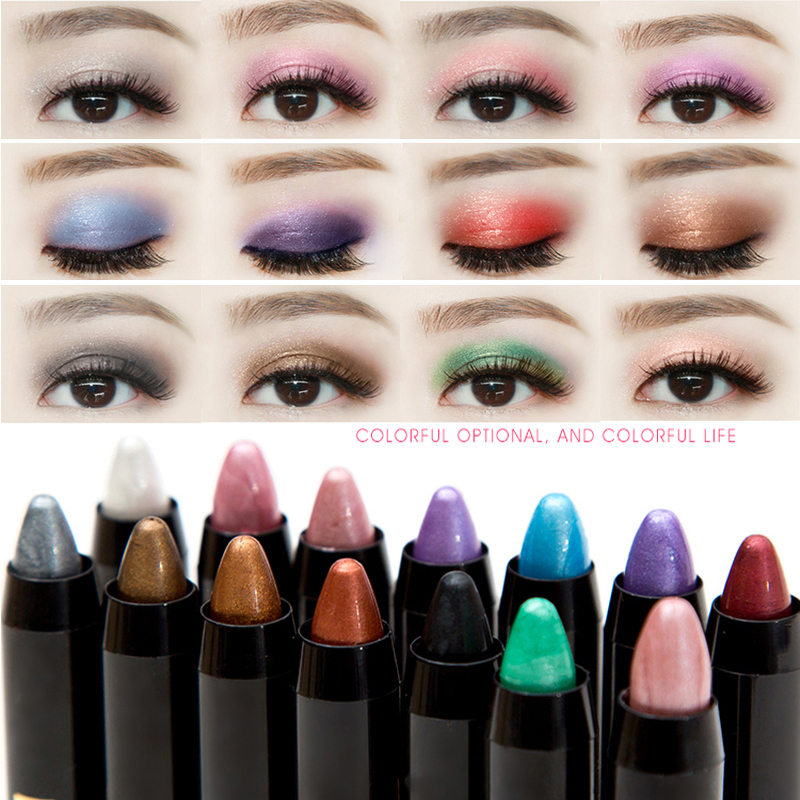 New Makeup Shimmer Glitter Eyes Eyeshadow Powder Pigment Waterproof Purple  White