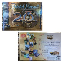 TRIVIAL PURSUIT 20TH ANNIVERSARY Edition Family Board Trivia Game~New & ... - $22.28