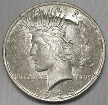 1923-P Error Peace Dollar VCH UNC Coin AE178 - $57.98