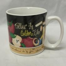 Follow The Golden Rule Coffee Mug: Tea Cup Teacher Gift w Scripture Luke... - $13.70
