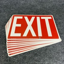 Lot of 8 Accuform MEXT518 Safety Sign Exit - $29.92