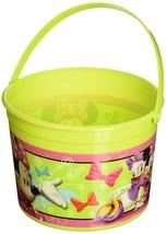 Minnie Mouse Bowtique Disney Cartoon Kids Birthday Party Favor Plastic Bucket - $9.45