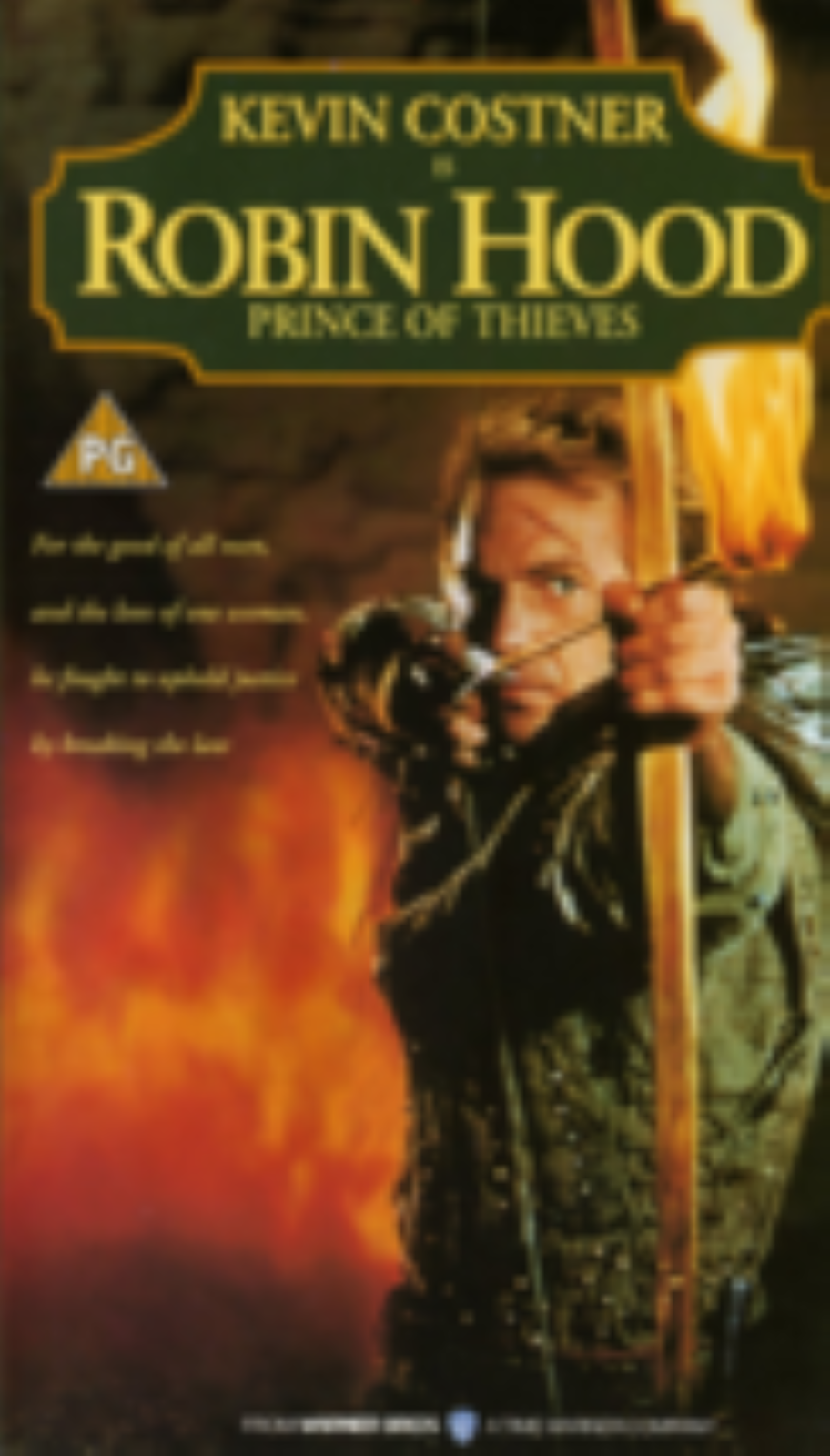 Robin Hood: Prince of Thieves Vhs
