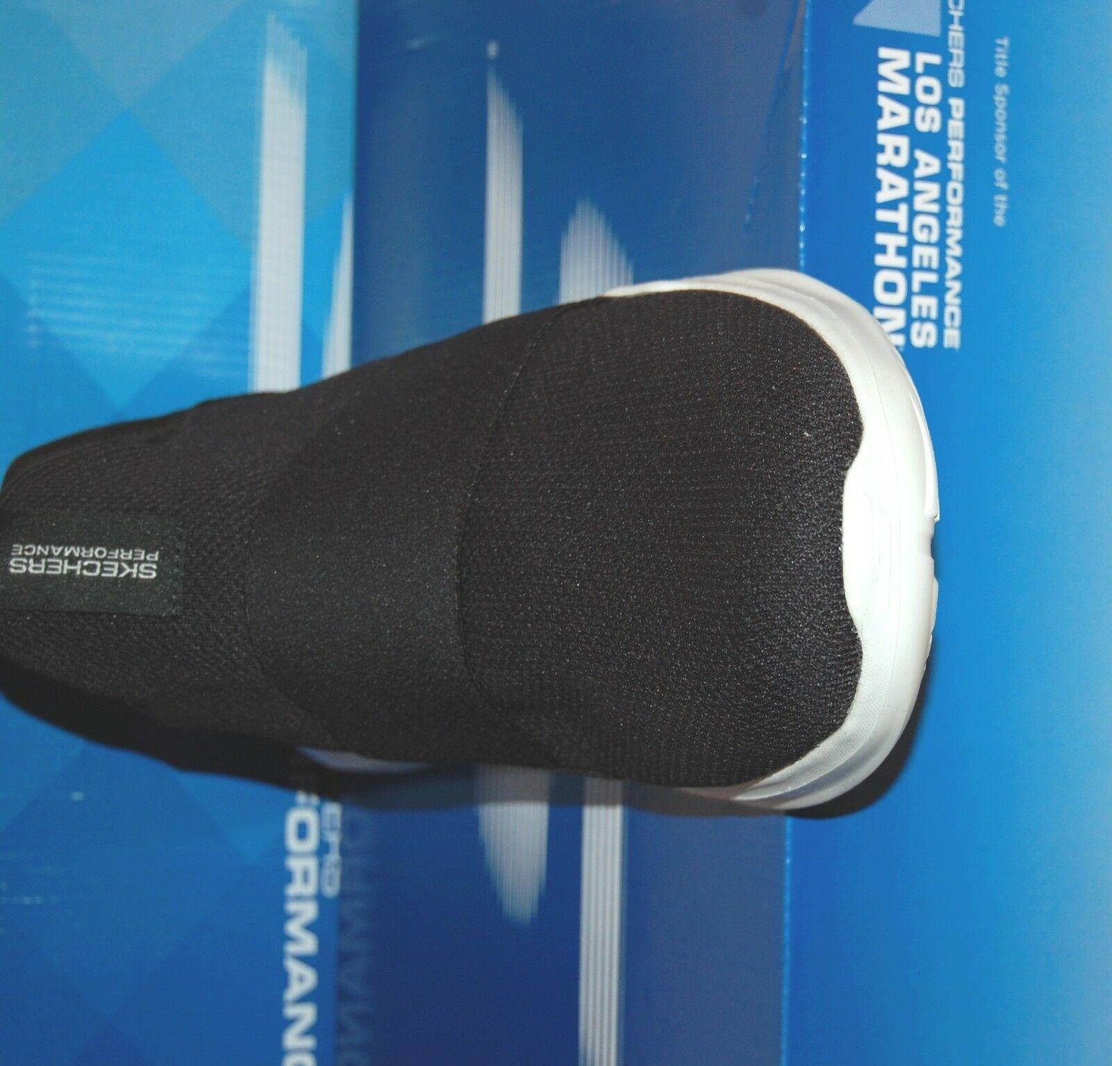 Skechers Go Run Mojo Mania Black White Men's Slip Comfort Shoes Sneakers US 12